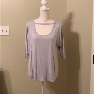 Short Sleeve Top with Chocker Detail